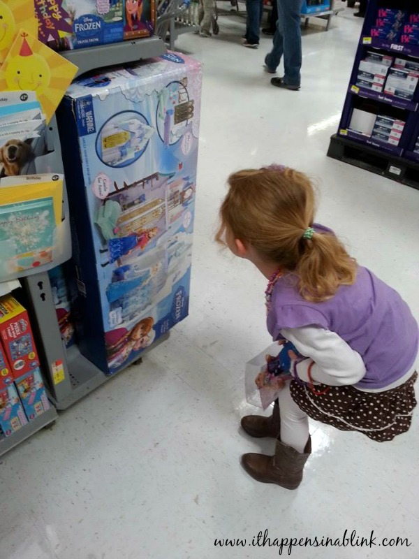 #FROZENfun endcap at Walmart #shop #cbias endcap