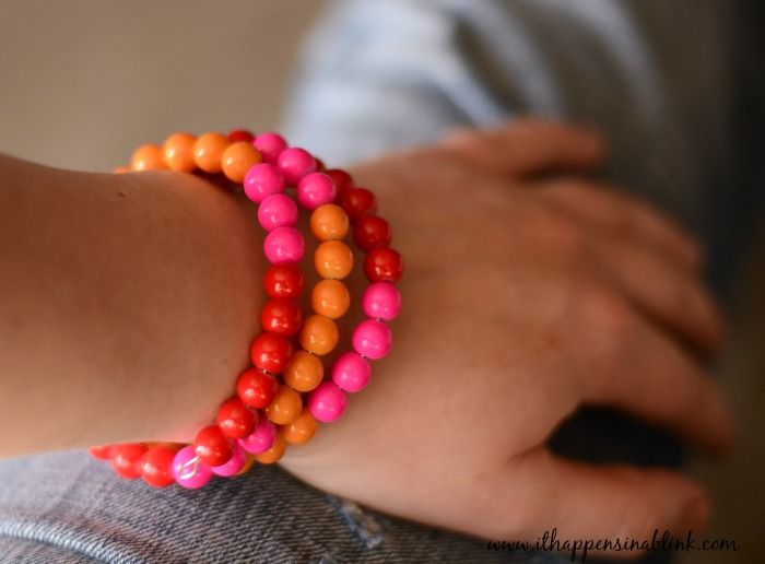 Memory Wire Bracelet On Arm