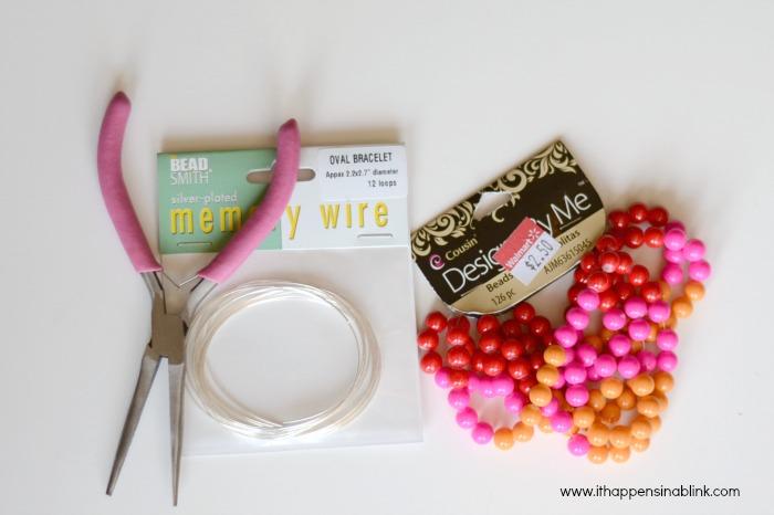 Memory Wire Bracelet Supplies