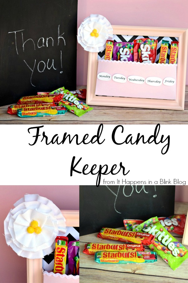 Framed Candy Keeper from It Happens in a Blink