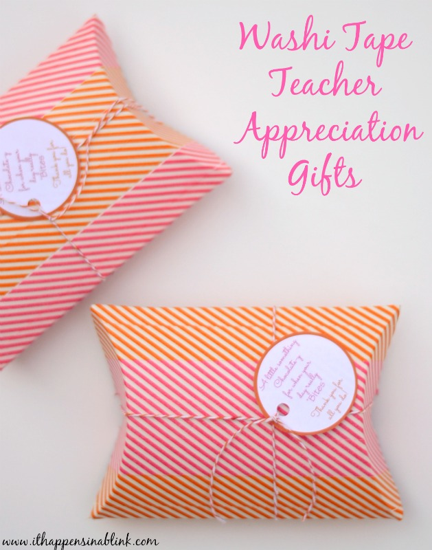Washi Tape Teacher Appreciation Gift