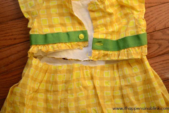 Easy Dress to Skirt Refashion