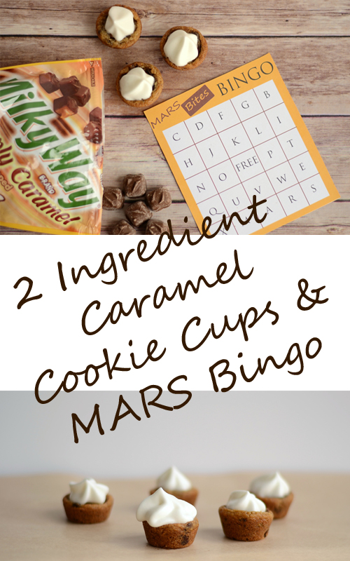 2 Ingredient Caramel Cookie Cups and MARS Bites Bingo #EatMoreBites #shop #cbias