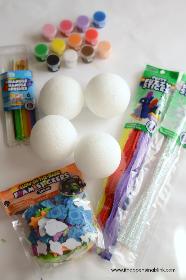 Easy Planet Preschool Craft Supplies from It Happens in a Blink