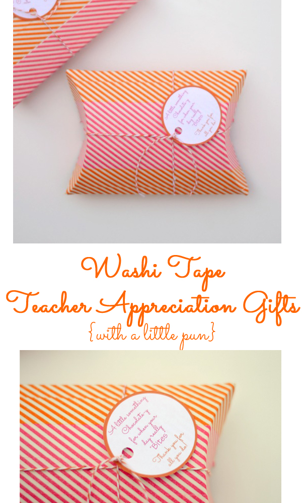 Washi Tape Teacher Appreciation Gifts {with a little pun}