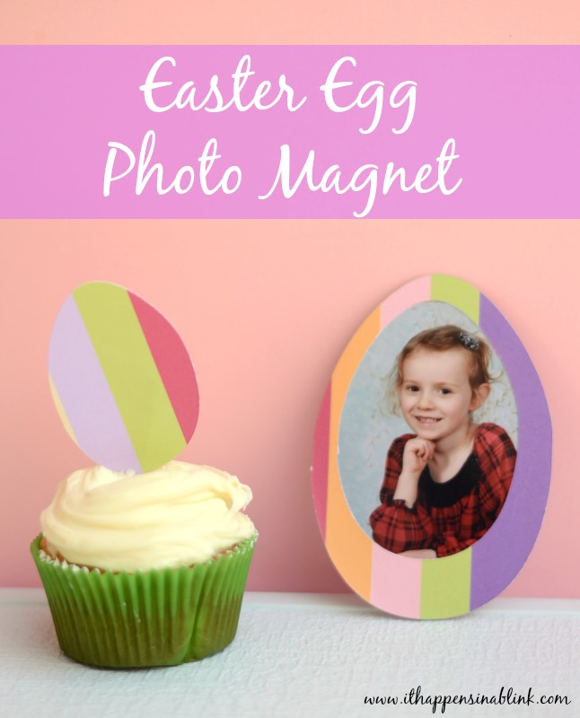 Easter Egg Photo Magnet with a Cricut