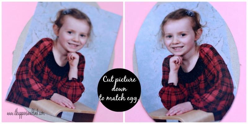 Cricut Easter Egg Photo Magnet