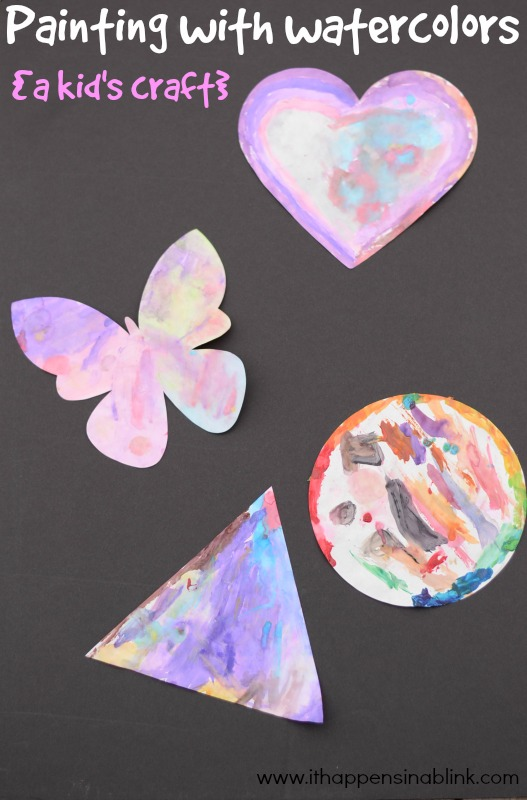 Watercolor Craft for Kids from It Happens in a Blink