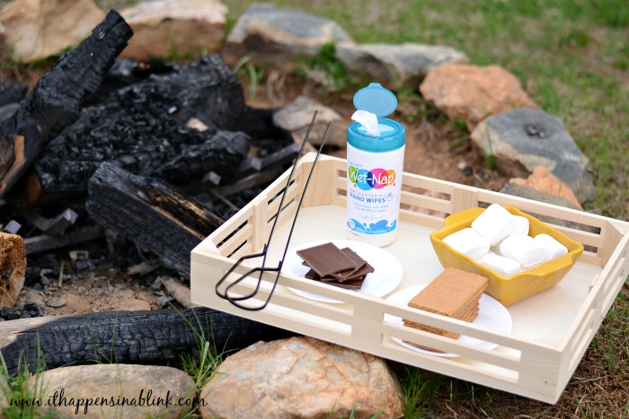 Summertime Campfire Caddy from It Happens in a Blink #ad #PMedia #showusyourmess