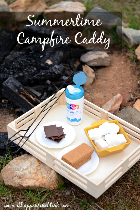 Summertime Campfire Caddy #ad #pmedia #shpwusyourmess It Happens in a Blink
