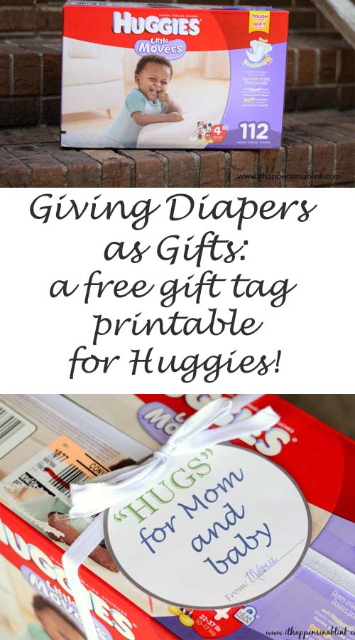 Huggies #MovingMoments #MC free gft tag printable for gifting diapers