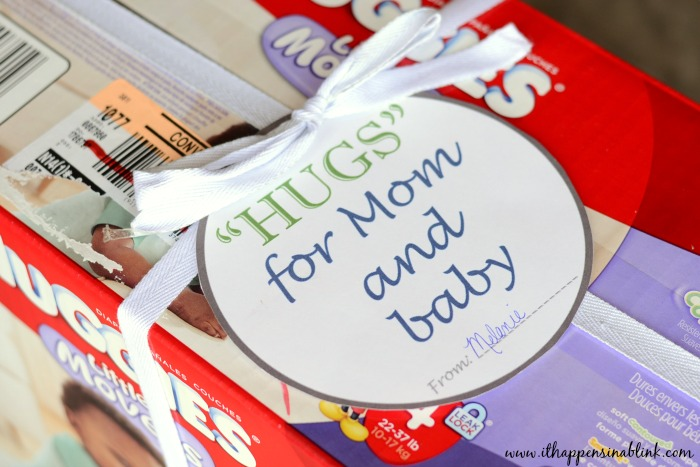 Huggies #MovingMoments #MC #sponsored diapers gift tag