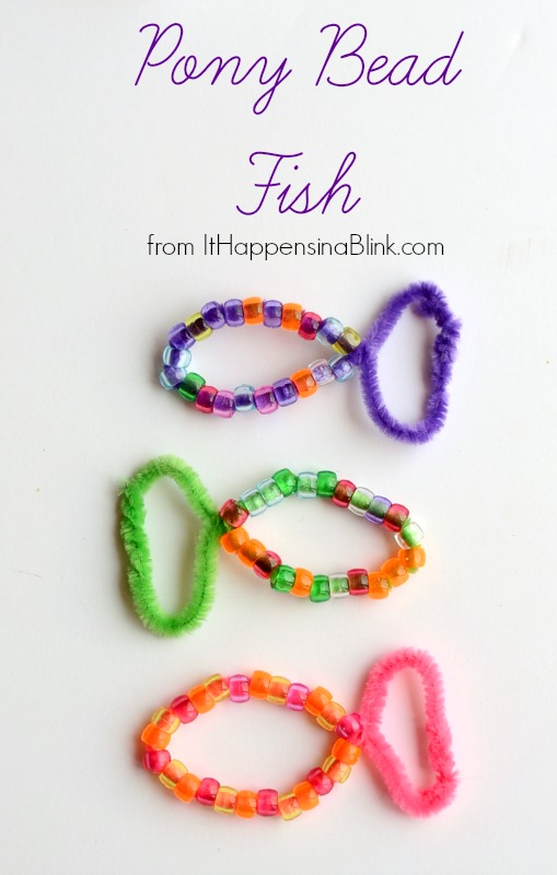 Pony Bead Fish from It Happens in a Blink