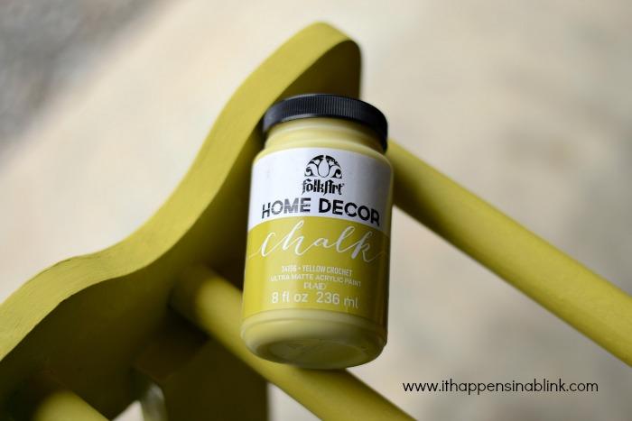 Quilt Rack Yellow Crochet #HomeDecorChalk