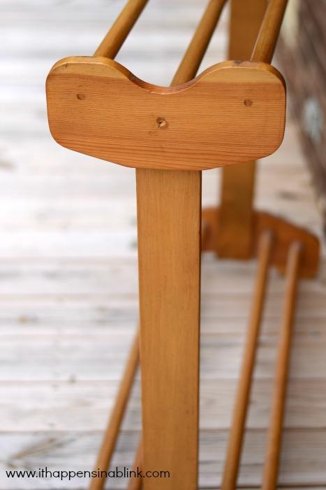 Quilt Rack Step One #HomeDecorChalk
