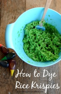 How to Dye Rice Krispies from it Happens in a Blink