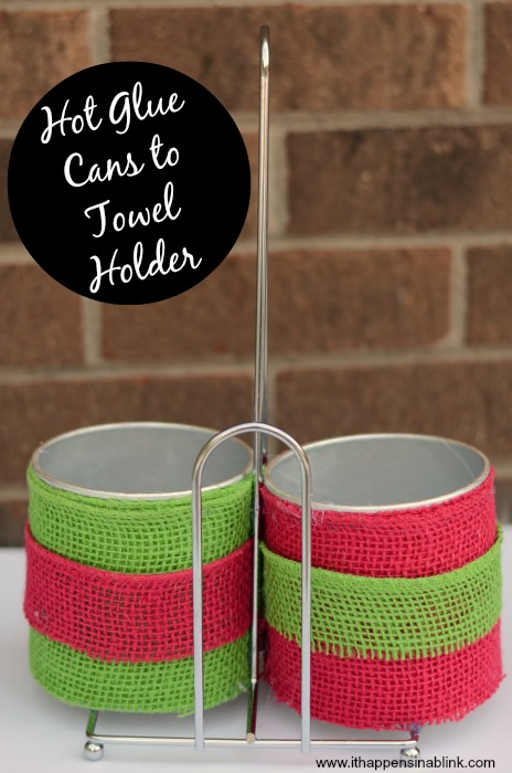 DIY Teacher Supply Caddy from It Happens in a Blink uses upcycled materials to create a unique gift #sponsored #adfreesearch