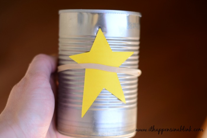 Americana Punched Tin Cans Rubber Band