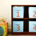 Easy Kid's Room Storage Solution