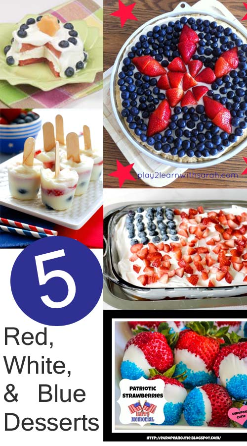 5 Red, White, and Blue Desserts from It Happens in a Blink