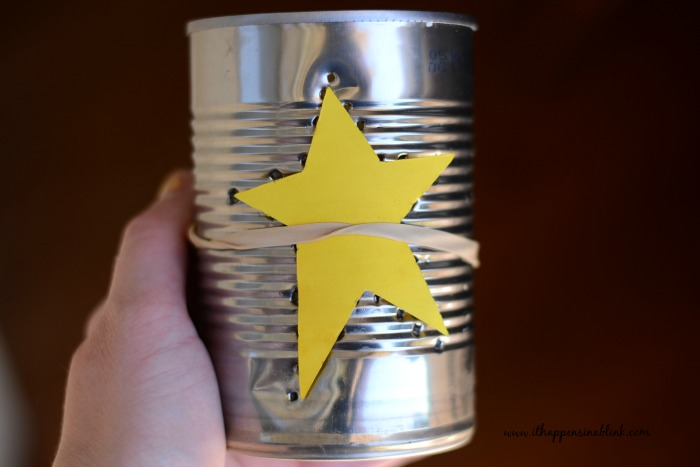 Americana Punched Tin Cans Holes