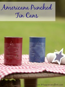 Americana Punched Tin Cans from It Happens in a Blink