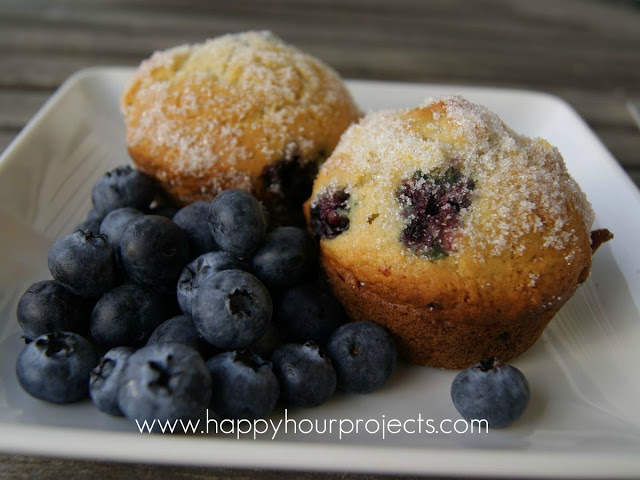 Blueberry Lemon Muffins from Happy Hour Projects