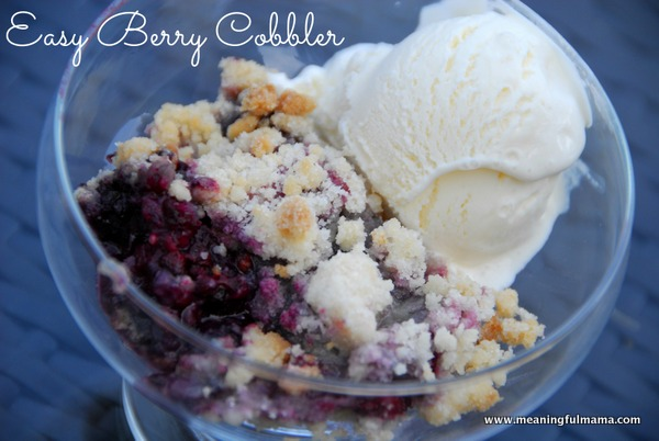 4 Ingredient Berry Cobbler from Meaningful Mama