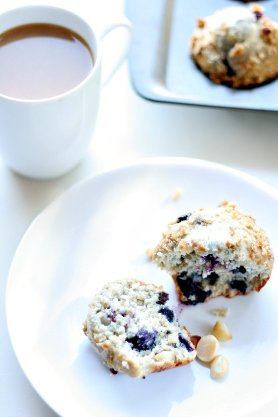 Blueberry Macadamia Muffins from Heather's French Press