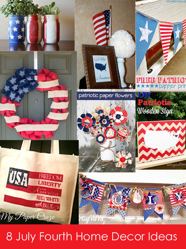 Eight 4th of July Home Decor Ideas from It Happens in a Blink