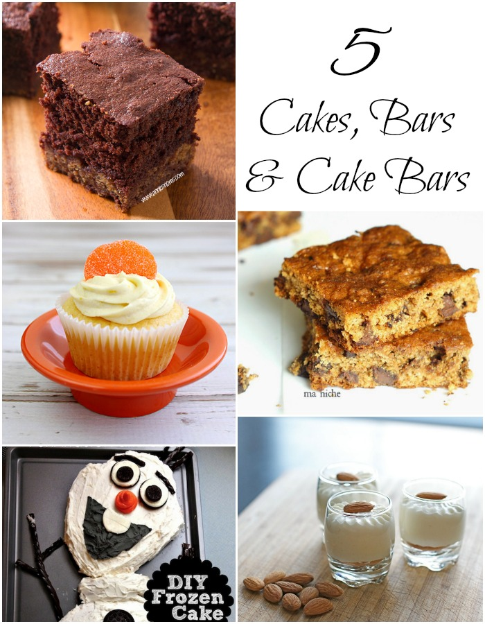 5 Cakes, Bars and Cake Bars
