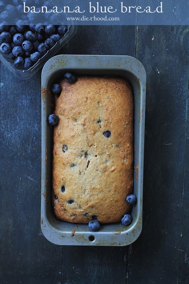 Blueberry Banana Bread from A Night Owl Blog