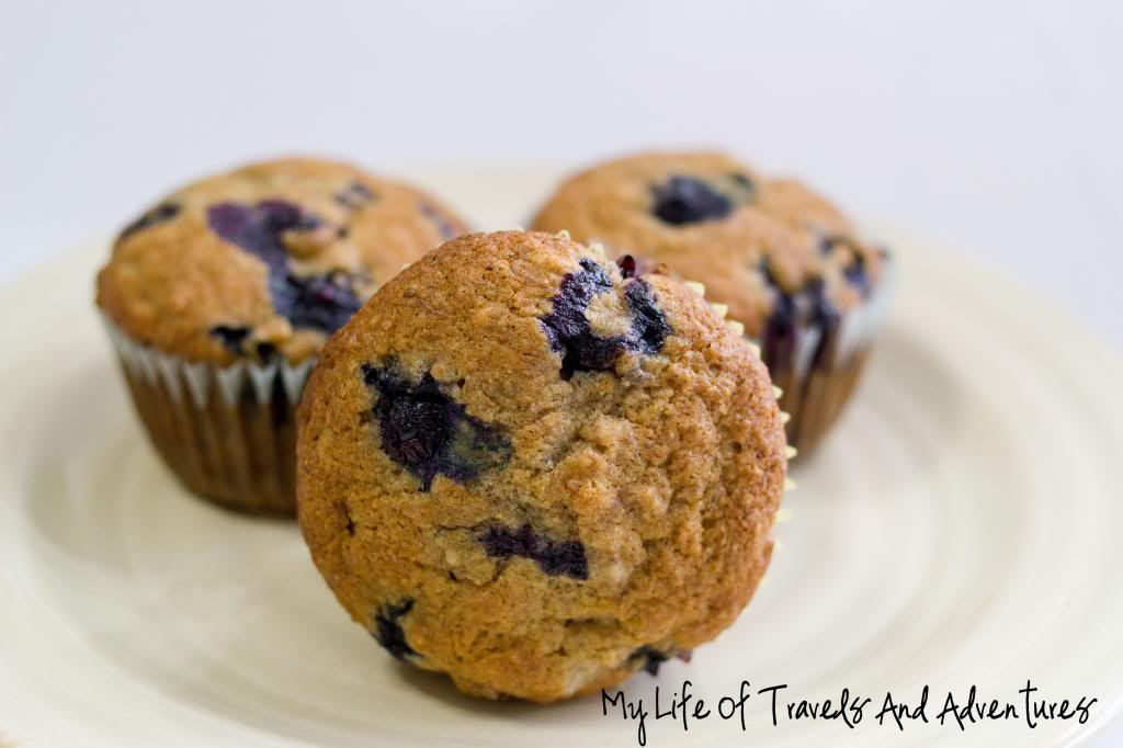 BananaBlueberryMuffins from My Life of Travels and Adventures