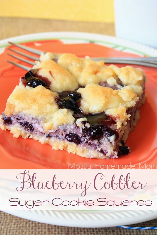Blueberry Cobbler Sugar Cookie Squares 1