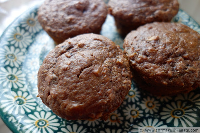 Double Chocolate Raspberry Muffins from Farm Fresh Feasts
