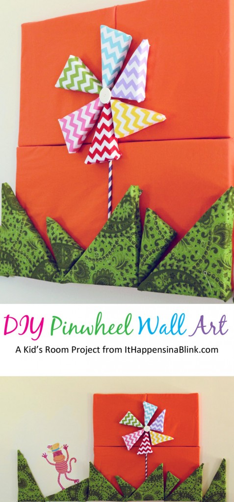 DIY Pinwheel Wall Art with It Happens in a Blink
