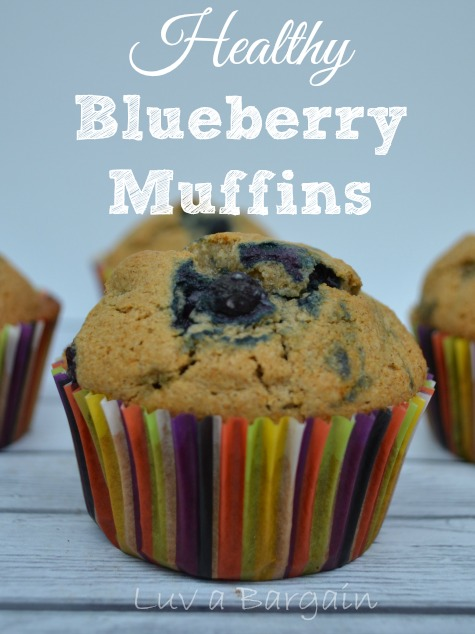 Healthy Blueberry Muffins from Luv a Bargain