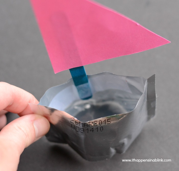 Juice Pouch Boats from ItHappensinaBlink.com