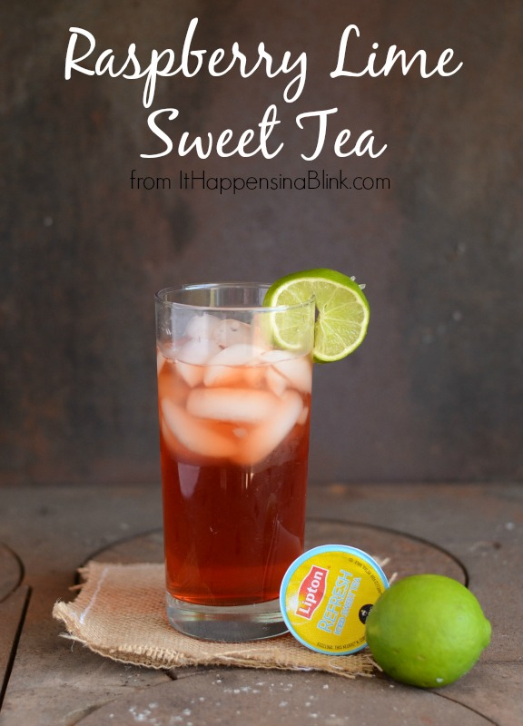 Raspberry Lime Sweet Tea from It Happens in a Blink #TEArifficPairs #cbias #shop