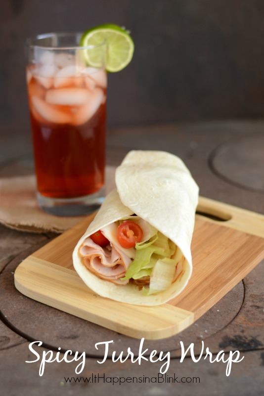Spicy Turkey Wrap #TEArifficPairs #shop #cbias