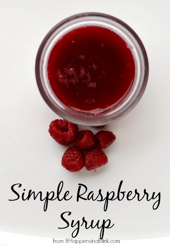 Simple Raspberry Syrup #bemoretea #PMedia #ad