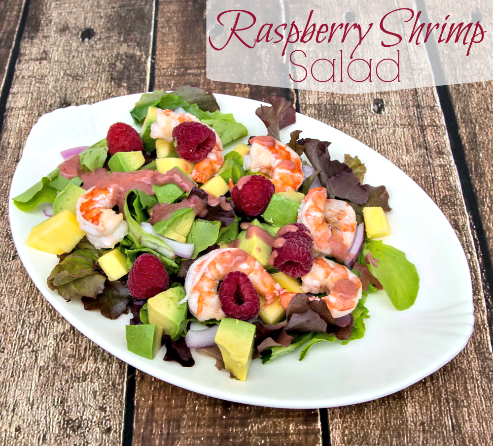 Raspberry Shrimp Salad from Upstate Ramblings