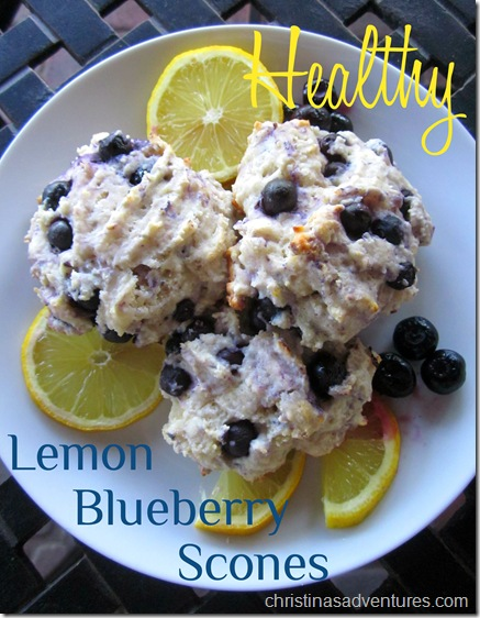 Healthy Lemon Blueberry Scones from Christina's Adventures