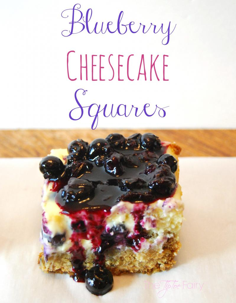 Blueberry Cheesecake Squares from The Tip Toe Fairy