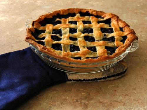 Blueberry Pie with Lattice Crust from The Redhead Baker