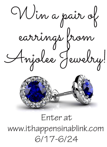 Win a pair of earrings from Anjolee Jewelry at It Happens in a Blink