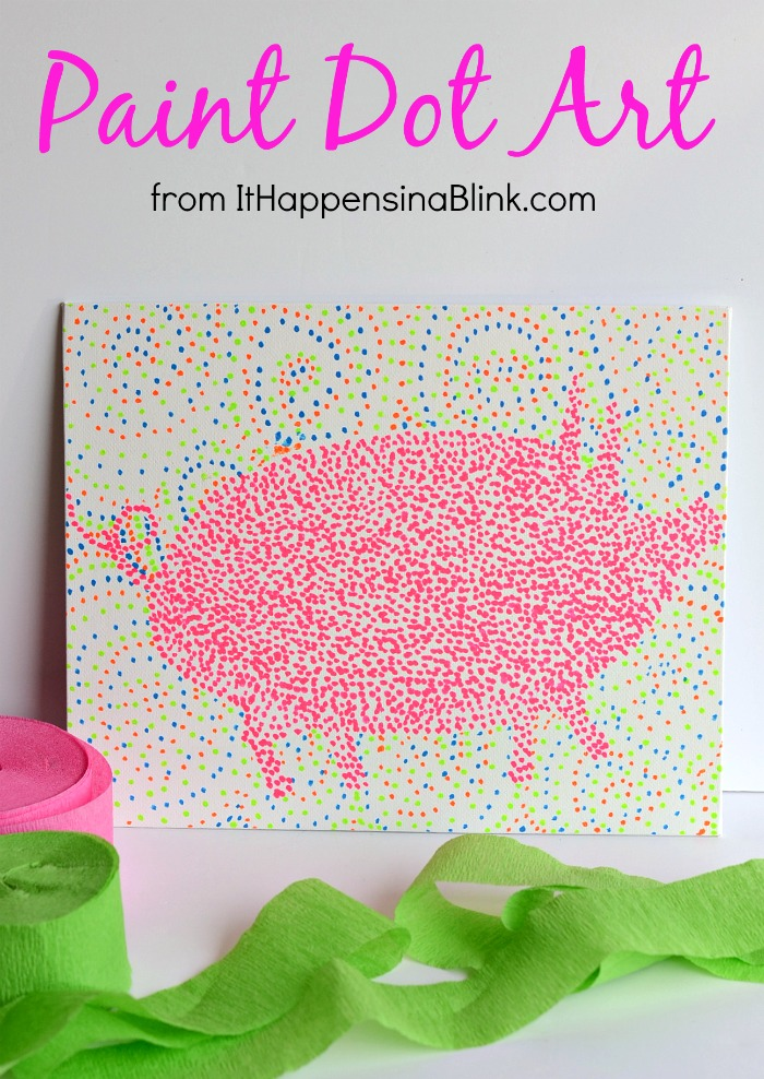 Paint Dot Art from It Happens in a Blink