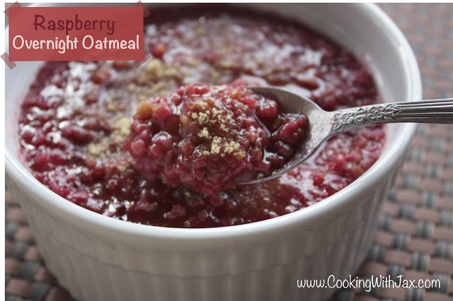 Raspberry Overnight Oatmeal from Cooking with Jac