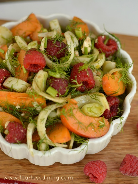 Raspberry, Fennel, Apricot, and Feta Salad from Fearless Dining