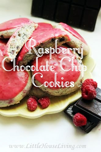 Raspberry Chocolate Chip Cookies from Little House Living